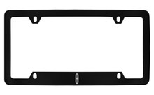 Lincoln Logo Bottom Engraved Black Coated Zinc License Plate Frame Holder With Silver Imprint