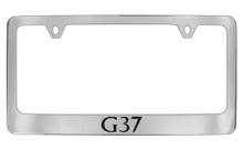 Infiniti G37 Chrome Plated Solid Brass License Plate Frame Holder With Black Imprint