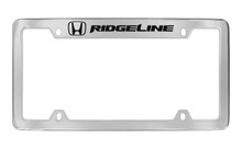 Honda Ridgeline With Logo Chrome Plated Solid Brass Top Engraved License Plate Frame Holder With Black Imprint