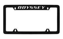 Honda Odyssey Top Engraved Black Coated Zinc License Plate Frame Holder With Silver Imprint