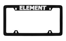 Honda Element Top Engraved Black Coated Zinc License Plate Frame Holder With Silver Imprint