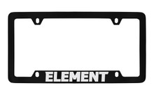 Honda Element Bottom Engraved Black Coated Zinc License Plate Frame Holder With Silver Imprint