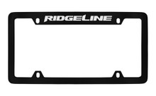 Honda Ridgeline Top Engraved Black Coated Zinc License Plate Frame Holder With Silver Imprint