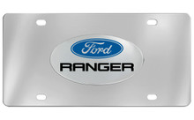 Ford Ranger Chrome Plated Solid Brass Emblem Attached To A Stainless Steel Plate