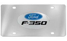 Ford F-350 With Logo Chrome Plated Solid Brass Emblem Attached To A Stainless Steel Plate