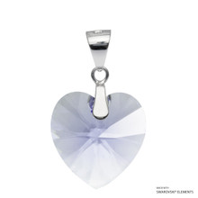 Provence Lavender Xilion Heart Pendant Embellished With Swarovski Crystals (PE3R-283)