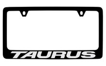 Ford Taurus Black Coated Zinc License Plate Frame Holder With Silver Imprint