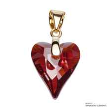 Crystal Red Magma Wild Heart Pendant Embellished With Swarovski Crystals (PE4G-001REDM)