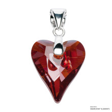 Crystal Red Magma Wild Heart Pendant Embellished With Swarovski Crystals (PE4R-001REDM)