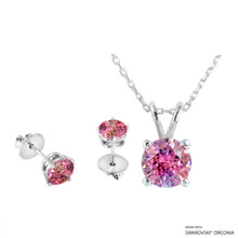 Necklace + Earring Made With Swarovski Zirconia (SNEZ2-29473)