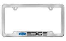 Ford Edge With Logo Bottom Engraved Chrome Plated Solid Brass License Plate Frame Holder With Black Imprint