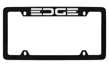 Ford Edge Top Engraved Black Coated Zinc License Plate Frame Holder With Silver Imprint