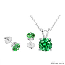 Necklace + Earring Made With Swarovski Zirconia (SNEZ2-34612)