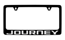 Dodge Journey Black Coated Zinc License Plate Frame Holder With Silver Imprint