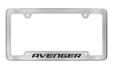 Dodge Avenger Chrome Plated Solid Brass Bottom Engraved License Plate Frame Holder With Black Imprint