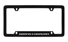 Dodge Grand Caravan Black Coated Zinc Bottom Engraved License Plate Frame