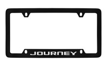 Dodge Journey Black Coated Zinc Bottom Engraved License Plate Frame Holder With Silver Imprint