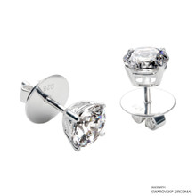 1 Carat White Solitaire Earring Made With Swarovski Zirconia