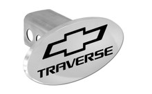 Chevrolet Traverse With Logo Oval Trailer Hitch Cover Plug