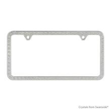 Premium Chrome Plated Zinc License Plate Frame Holder Embellished With Swarovski Crystals