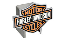 Harley-Davidson® Hitch Cover 3 Color Harley-Davidson® Bar & Shield Logo Emblem Plus Hitch Ball Post Components (HDHCB25)