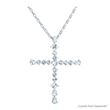 Classic Cross Necklace Embellished With Swarovski Crystals