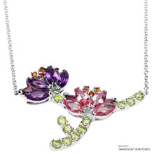 Lotus Necklace Made With Swarovski Gemstones