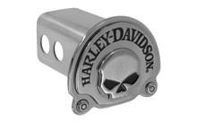 Harley-Davidson® Trailer Hitch Cover Plug 3D Skull Emblem (HDHC06A)