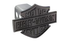 Harley-Davidson® Black Nickel Bar & Shield Trailer Hitch Cover Plug