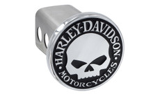 "Harley-Davidson® Mini 1.25"" Post Hitch Cover With 3D Skull Black Nickle Plated Emblem"