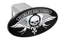Harley-Davidson® Trailer Hitch Cover Plug With 3D Decorative Emblem