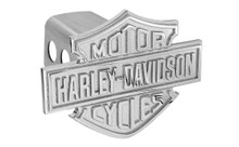 Harley-Davidson® Trailer Hitch Cover Plug With 3D Monotone Bar & Shield