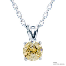 1 Carat Fancy Yellow Solitaire Necklace Made With Swarovski Zirconia