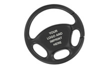 Steering Wheel Plain Black Key Chain Gift Boxed