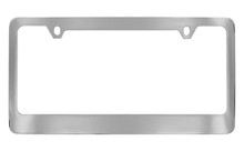 Chrome Plated Solid Brass License Plate Frame 2 Hole (LF322)
