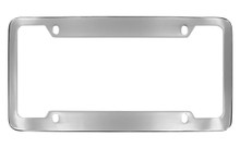 Chrome Plated Wide Top & Bottom 4 Hole Plain License Plate Frame 4 Hole