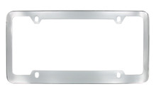 Chrome Plated Plain License Plate Frame 4 Hole