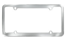 Chrome Plated Plain License Plate Frame With Medium Rim 4 Hole