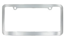 Chrome Plated Plain License Plate Frame With Medium Rim 2 Hole