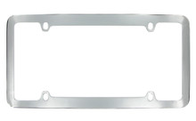 Chrome Plated Plain License Plate Frame 4 Hole (LF326-4H)