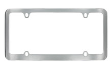 Chrome Plated Solid Brass Medium Rim License Plate Frame 4 Hole