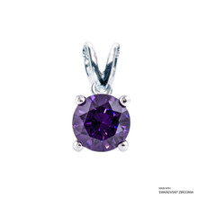 1 Carat Amethyst Solitaire Pendant Made With Swarovski Zirconia