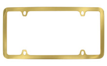 Gold Plated Solid Brass 4 Hole Thin Rim Frame 4 Hole