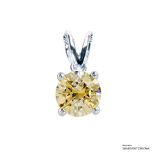 1 Carat Fancy Yellow Solitaire Pendant Made With Swarovski Zirconia