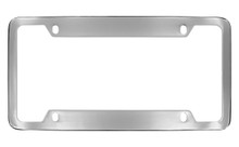 Chrome Plated Wide Top & Bottom 4 Hole Plain License Plate Frame 4 Hole (LF323.1-4H)