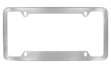 Chrome Plated Plain License Plate Frame 4 Hole (LF324.1-4H)