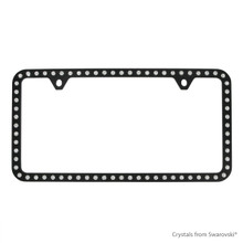 Black Powder Coated Zinc Bling Frame