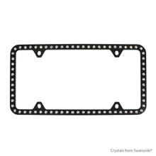 Black Powder Coated Zinc Bling Frame (4H) Embellished With Swarovski Crystals (LFZCY501-AB-4H)