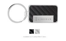 Lincoln Engraved Carbon Fiber Vinyl Key Chain