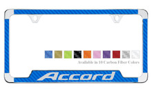Honda Accord License Plate Frame With Carbon Fiber Vinyl Insert